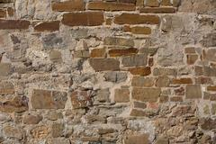 A fragment of ancient masonry walls Stock Photos