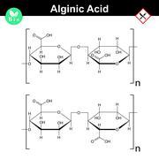 Alginic acid molecular structure Stock Illustration