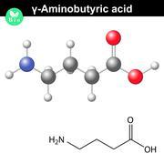 Gamma Aminobutyric acid synaptic neurotransmitter Stock Illustration
