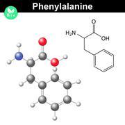 Phenylalanine essential amino acid Stock Illustration
