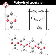 Polyvinyl acetate polymer chemical structure Stock Illustration
