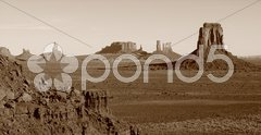 Monument Valley Vintage Stock Photos