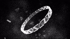 Monochrome Rotating Ring of Triangles Animation - Loop Stock Footage