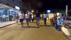 Timelapse of tourist walk among people visiting Halkidiki Stock Footage