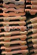 Dachziegel-Stapel Stock Photos