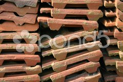 Dachpfannen-Stapel Stock Photos