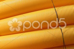 Gelbe Leerrohre 2 Stock Photos