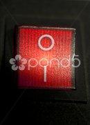 Roter Schalter Stock Photos