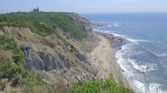 Block Island Cliffs Stock Footage