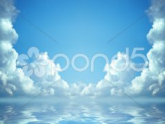 Idyllic blue sky Stock Photos