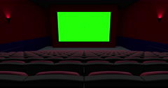 Empty Theater Move Away from the Screen Transition Stock Footage