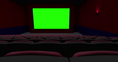 Empty Theater Move Left From the Back Stock Footage