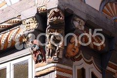 Stiftsherrenhaus in Hameln (Detail) Stock Photos