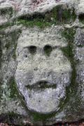 Bizarre Stone Heads - Rock Sculptures Stock Photos