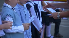 Congratulates Children With the Start of School Stock Footage