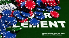 Casino chips Stock After Effects