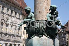 Marktbrunnen Stock Photos