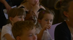 Children and Their Parents Have Come on School Meeting on the Occasion of Stock Footage