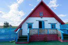 Small house from clay, traditional building Stock Photos