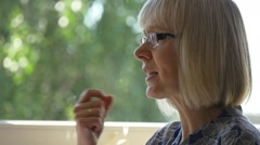 The Teacher of Initial Classes Speaks With the Pupils Stock Footage