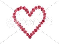 Herz und Blumen als Symbol der Liebe Kuvituskuvat