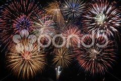 Feuerwerk Silvester Sylvester Stock Photos