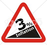 Inflation Schild Symbol Stock Photos