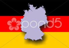 Deutschlandkarte BRD-Karte Landkarte Deutschland Stock Photos