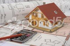 Architektur Hausbau Bauplan Haus Stock Photos