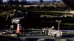 Disneyland Storybook Land Canal Boats Ride 1950s Stock Footage