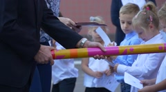 Director of the School is a Rite of Initiation New Students. Stock Footage