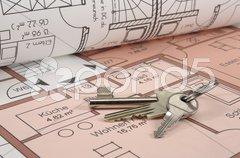 Bauplan Bauzeichnung Schlüssel Stock Photos