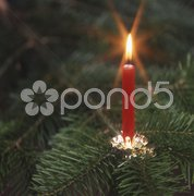 Weihnachten Weihnachtskerze Stock Photos