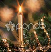 Weihnachtsschmuck Weihnachten Kerze Stock Photos