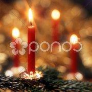 Weihnachtsschmuck Kerzen Weihnachten Stock Photos