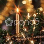 Weihnachtsschmuck Kerze Stock Photos