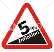 Warnung Inflation Stock Photos