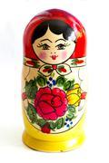 Traditional Russian matryoshka doll Stock Photos
