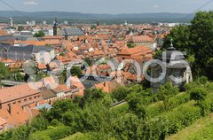 UNESCO Welterbe Stadt Bamberg in Bayern Stock Photos