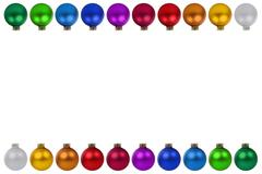 Christmas balls baubles decoration border copyspace copy space isolated Stock Photos
