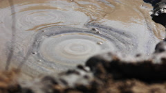 Gas Coming Out of the Mud Volcanoes of Methane Stock Footage
