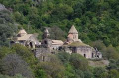 Dadivank is an Armenian medieval monastery in the Nagorno-Karabakh Republic. Stock Photos