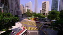 IFC TOWER PEDESTRIAN QUEENSWAY DES VOEUX ROAD Stock Footage