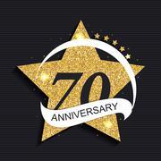 Template Logo 70 Anniversary Vector Illustration Stock Illustration