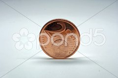 Europäische Cent Münzen - europian coins Stock Photos