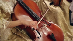 Girl playing with cello Stock Footage