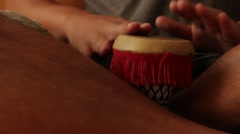 Percussion Drummer Performing African Beat Stock Footage