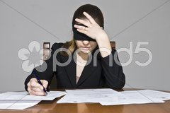 Blindfold Decisions Stock Photos
