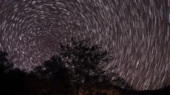 Movement of the stars in the valley of the river Aapsta, Abkhazia. Full HD Stock Footage