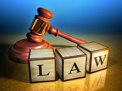 Law and gavel Stock Illustration